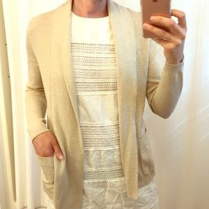 Banana Republic Gold Shimmer Cardigan